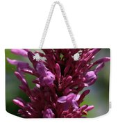 Purple Wildflower Weekender Tote Bag
