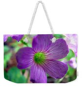 Purple Wildflowers Macro 1 Weekender Tote Bag