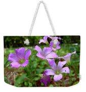 Purple Wildflowers Macro 2 Weekender Tote Bag