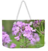 Purple Wildflowers Two Weekender Tote Bag
