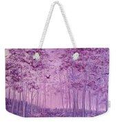 Purple Woods Weekender Tote Bag