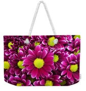 Purple Yellow Flowers Weekender Tote Bag