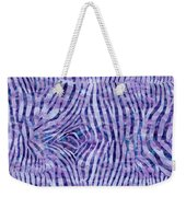 Purple Zebra Print Weekender Tote Bag