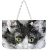A Cat With Green Eyes Weekender Tote Bag