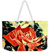 Push-button Flower Weekender Tote Bag