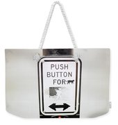 Push Button For Cat Weekender Tote Bag