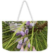 Pushing Though Or Wisteria And Long Needle Pine Weekender Tote Bag