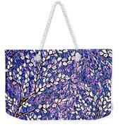 Pussy Willow Mosaic Weekender Tote Bag