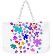 Puzzle Pieces Weekender Tote Bag