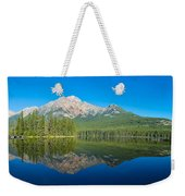 Pyramid Island In The Pyramid Lake Weekender Tote Bag