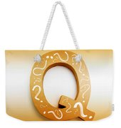 Q For Education And Learning Weekender Tote Bag