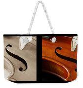 Quadriptych Of Musical Curves Weekender Tote Bag