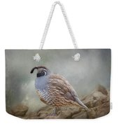 Quail On The Rocks Weekender Tote Bag