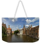 Quay Of The Rosary In Bruges Belgium Weekender Tote Bag