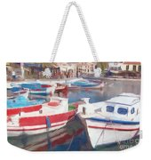 Quay On The Island Of Crete Weekender Tote Bag