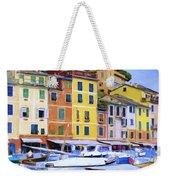 Quayside At Portofino Weekender Tote Bag