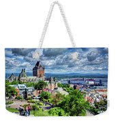 Quebec City Overlook Weekender Tote Bag
