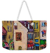 Quebec City Street Scene  Caleche Ride Weekender Tote Bag