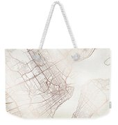 Quebec Street Map Colorful Copper Modern Minimalist Weekender Tote Bag