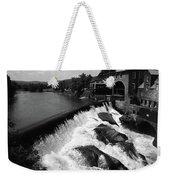 Quechee, Vermont - Falls 3 Bw Weekender Tote Bag