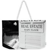 Quechee, Vermont - Falls Storefront 2006 Bw Weekender Tote Bag