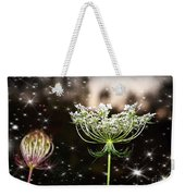 Queen Annes Lace And Sparkles At Dusk Weekender Tote Bag