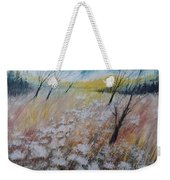 Queen Anne's Lace, Gouache Painting Weekender Tote Bag