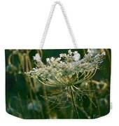 Queen Anne's Lace In Green Horizontal Weekender Tote Bag