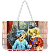 Queen Elizabeth And Prince Philip At Newby Hall Weekender Tote Bag