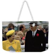 Queen Elizabeth Inspects The Horses Weekender Tote Bag
