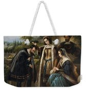 Queen Isabella And Columbus Henry Nelson Oneil Weekender Tote Bag