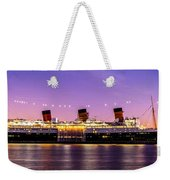 Queen Mary At Dusk_pano Weekender Tote Bag