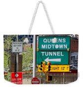 Queens Midtown Tunnel Weekender Tote Bag
