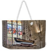Quelven Church, Brittany, France, Ship Weekender Tote Bag