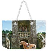 Quelven Village Square, Awaiting His Owner, Brittany, France Weekender Tote Bag
