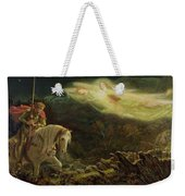 Quest For The Holy Grail Weekender Tote Bag by Arthur Hughes