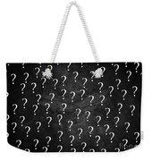 Question Mark Weekender Tote Bag