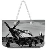 Quick Silver In Black And White Weekender Tote Bag