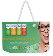 Quickbooks Customer Service Number  Weekender Tote Bag