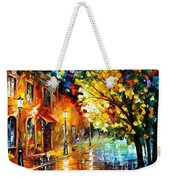 Quiet Corner-garden On The Stones - Palette Knife Oil Painting On Canvas By Leonid Afremov Weekender Tote Bag