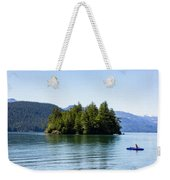 Quiet Day At The Lake - Digital Oil Weekender Tote Bag