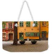 Quiet Little Square In Old Gamla Stan In Stockholm Sweden Weekender Tote Bag