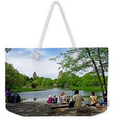 Quiet Moment In Central Park Weekender Tote Bag