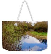 Quiet River Weekender Tote Bag