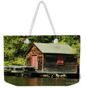 Quiet Sunapee Fishing Cabin Weekender Tote Bag