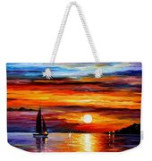Quiet Sunset Weekender Tote Bag