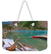 Moraine Lake I, Alberta Weekender Tote Bag