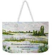 Quiet Waters Psalm 23 Weekender Tote Bag