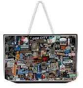 Quincy, Il Collage Weekender Tote Bag