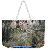 Quintessentially Dalyan River Boats And Rock Tombs Weekender Tote Bag